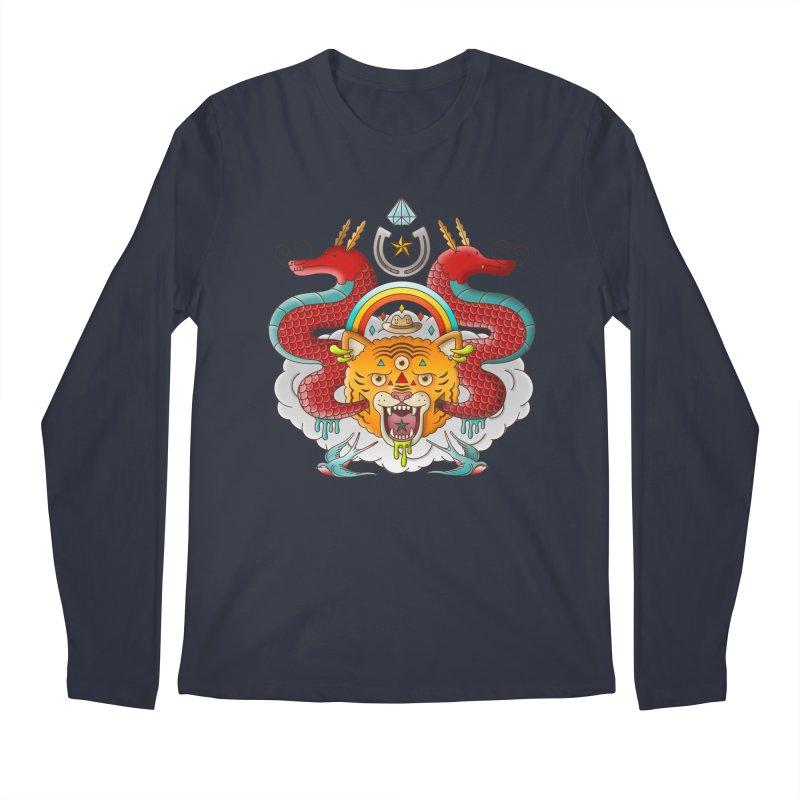 Get Lucky Men's Regular Longsleeve T-Shirt by Quick Brown Fox