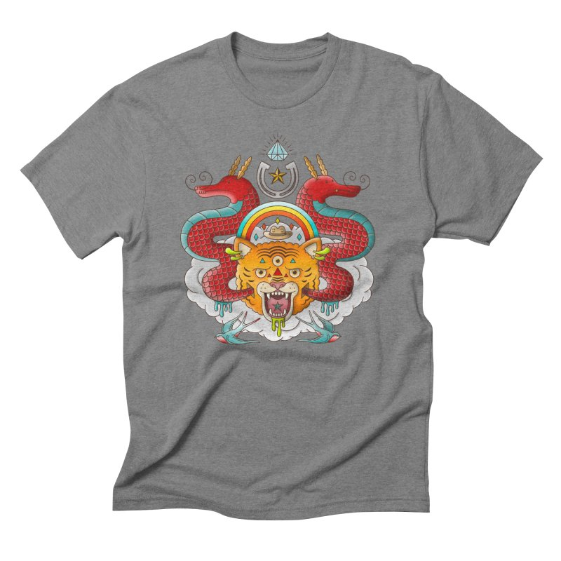Get Lucky Men's Triblend T-Shirt by Quick Brown Fox