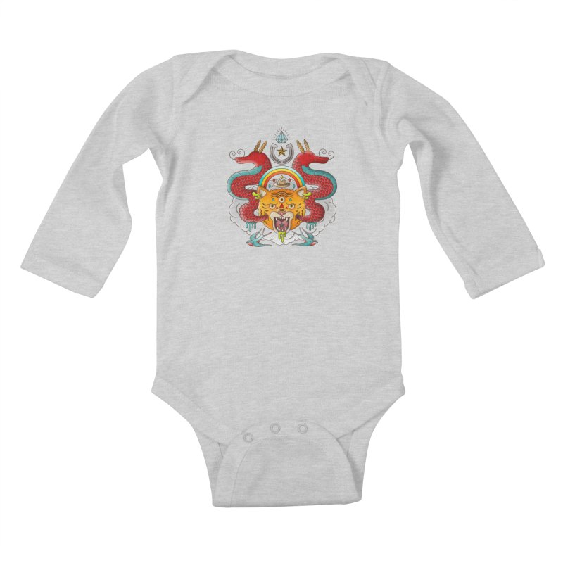 Get Lucky Kids Baby Longsleeve Bodysuit by Quick Brown Fox