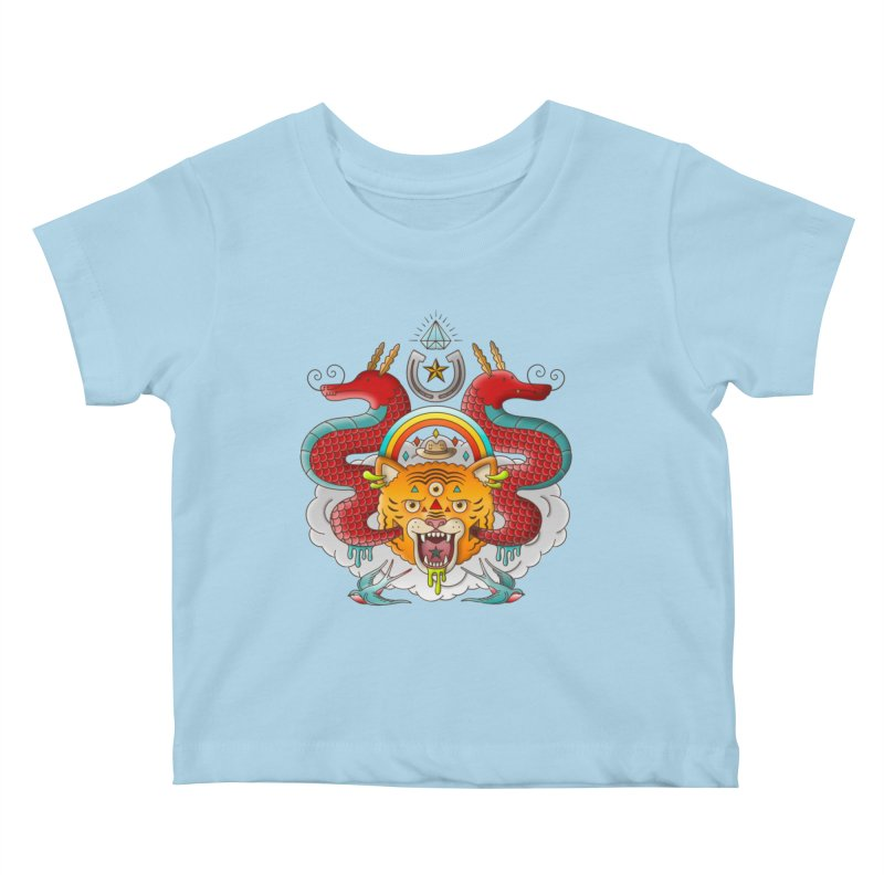 Get Lucky Kids Baby T-Shirt by Quick Brown Fox