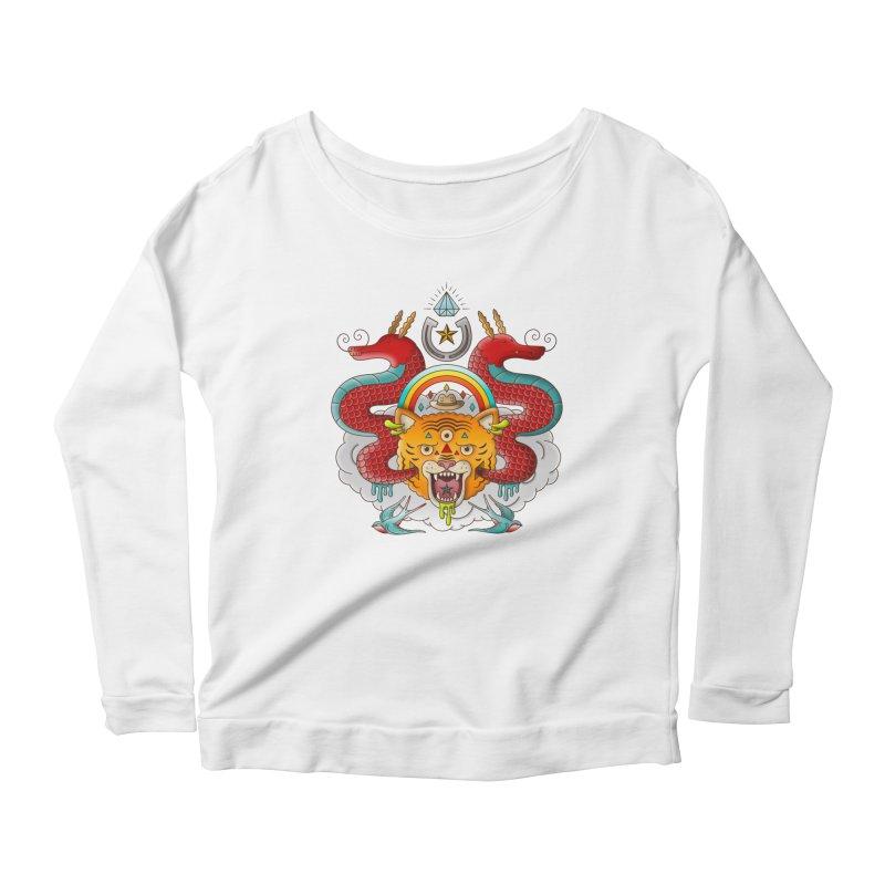 Get Lucky Women's Scoop Neck Longsleeve T-Shirt by Quick Brown Fox