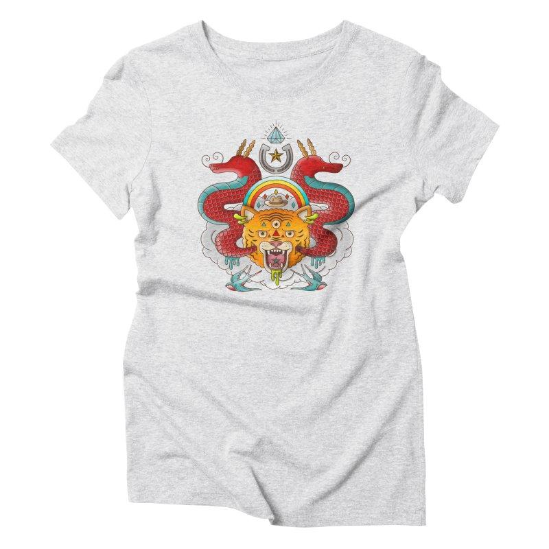 Get Lucky Women's Triblend T-Shirt by Quick Brown Fox