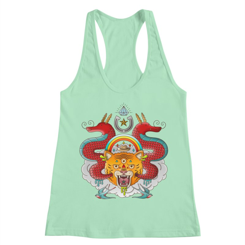 Get Lucky Women's Racerback Tank by Quick Brown Fox