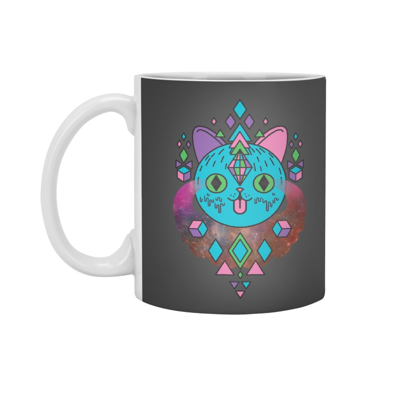 Space Kitty Accessories Mug by Quick Brown Fox