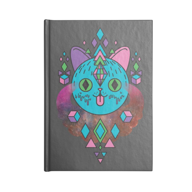Space Kitty Accessories Lined Journal Notebook by Quick Brown Fox