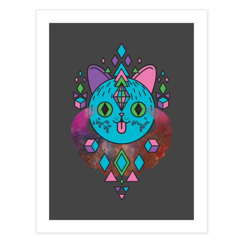 Space Kitty Home Fine Art Print by Quick Brown Fox