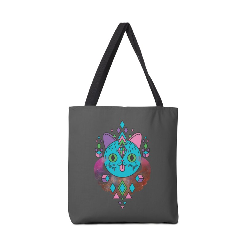 Space Kitty Accessories Tote Bag Bag by Quick Brown Fox