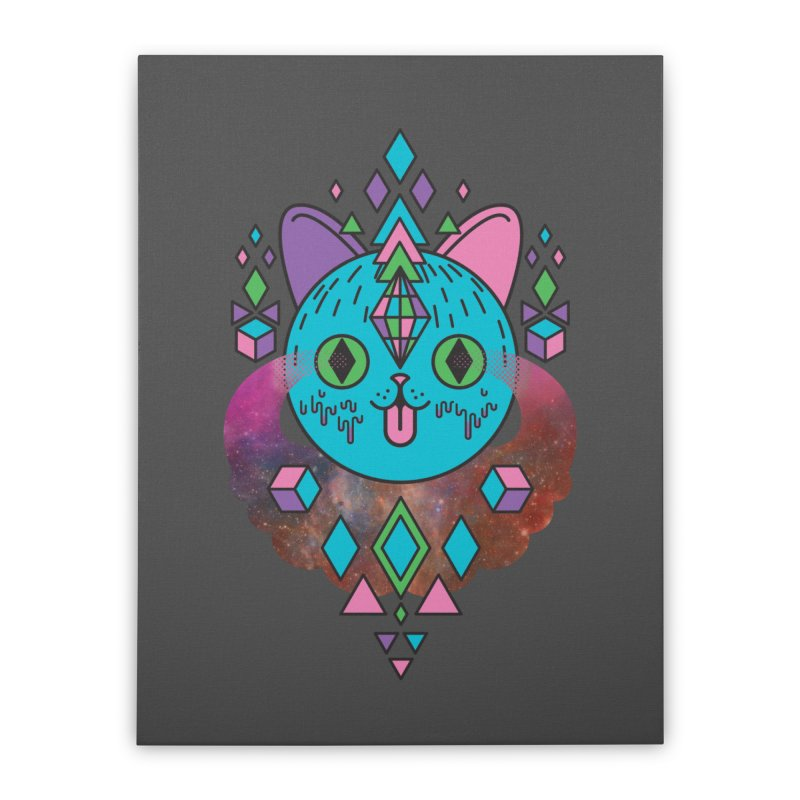Space Kitty Home Stretched Canvas by Quick Brown Fox