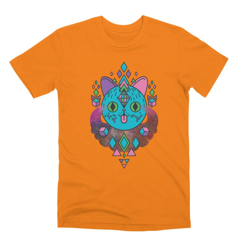 Space Kitty Men's T-Shirt by Quick Brown Fox