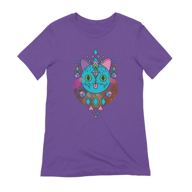 Space Kitty Women's Extra Soft T-Shirt by Quick Brown Fox