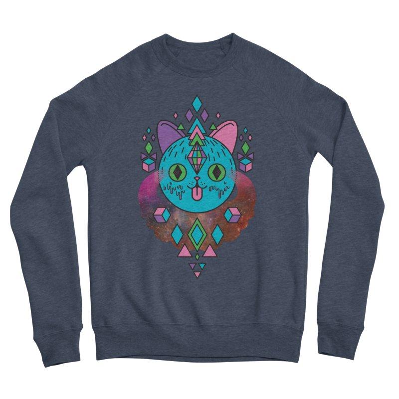 Space Kitty Men's Sponge Fleece Sweatshirt by Quick Brown Fox