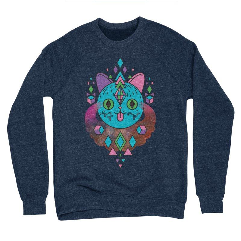 Space Kitty Women's Sponge Fleece Sweatshirt by Quick Brown Fox