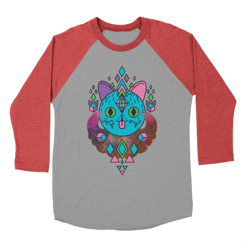 Space Kitty Men's Longsleeve T-Shirt by Quick Brown Fox