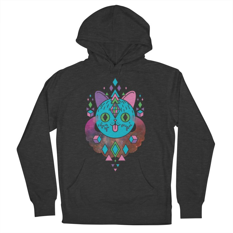Space Kitty Women's French Terry Pullover Hoody by Quick Brown Fox