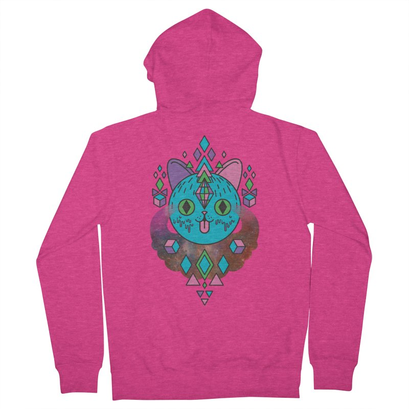 Space Kitty Women's French Terry Zip-Up Hoody by Quick Brown Fox