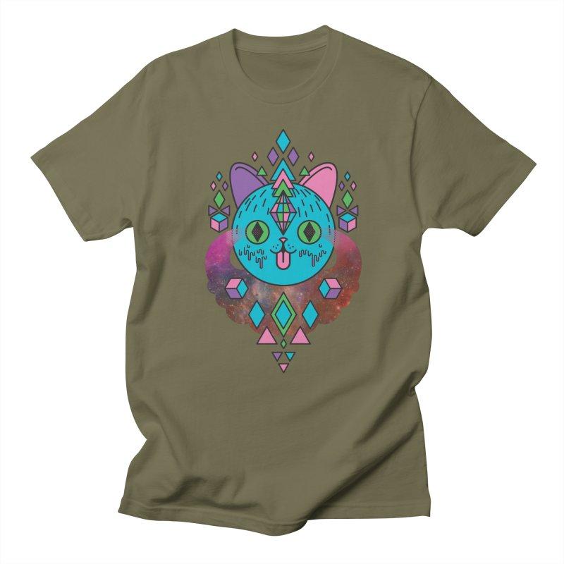 Space Kitty Men's Regular T-Shirt by Quick Brown Fox