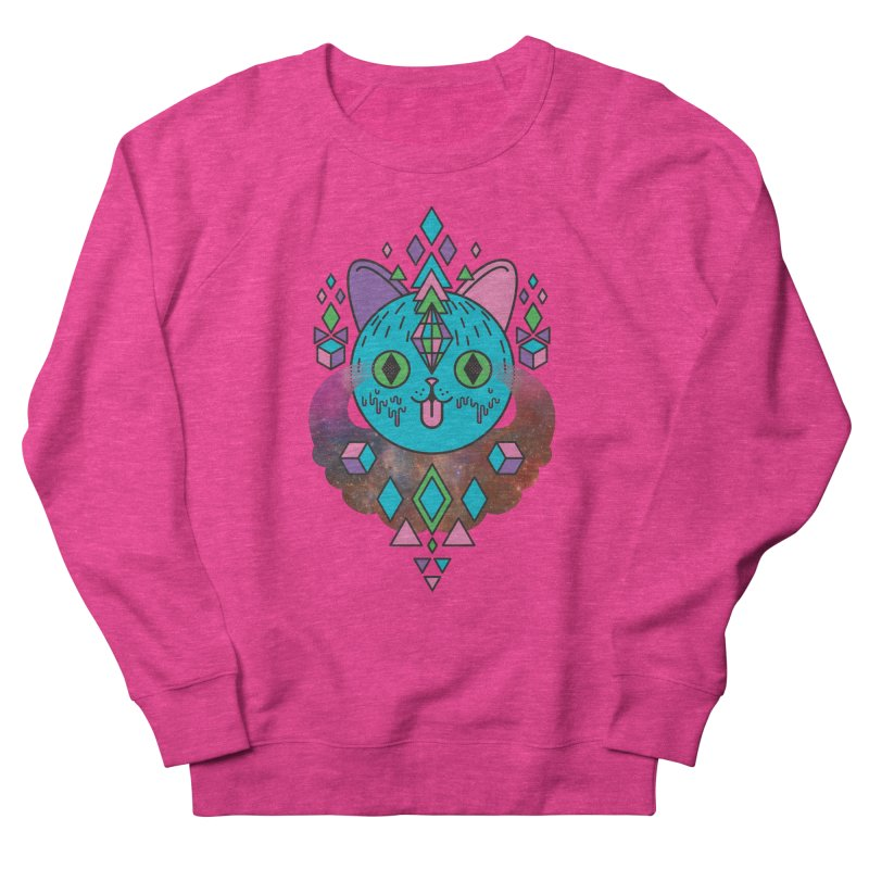 Space Kitty Women's French Terry Sweatshirt by Quick Brown Fox