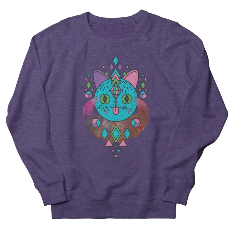 Space Kitty Men's French Terry Sweatshirt by Quick Brown Fox