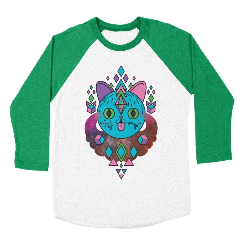 Space Kitty Women's Baseball Triblend Longsleeve T-Shirt by Quick Brown Fox