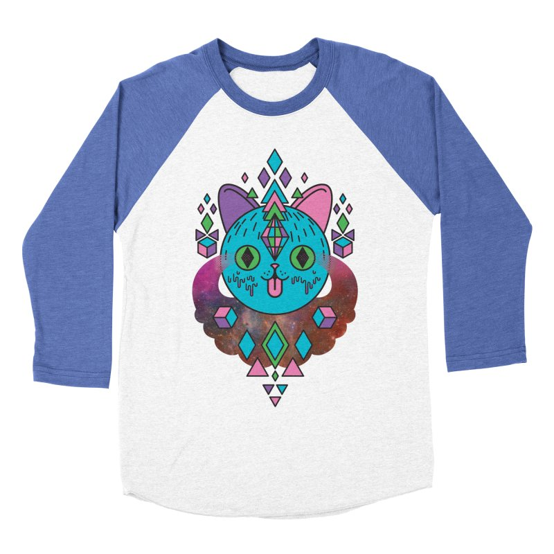 Space Kitty Men's Baseball Triblend Longsleeve T-Shirt by Quick Brown Fox
