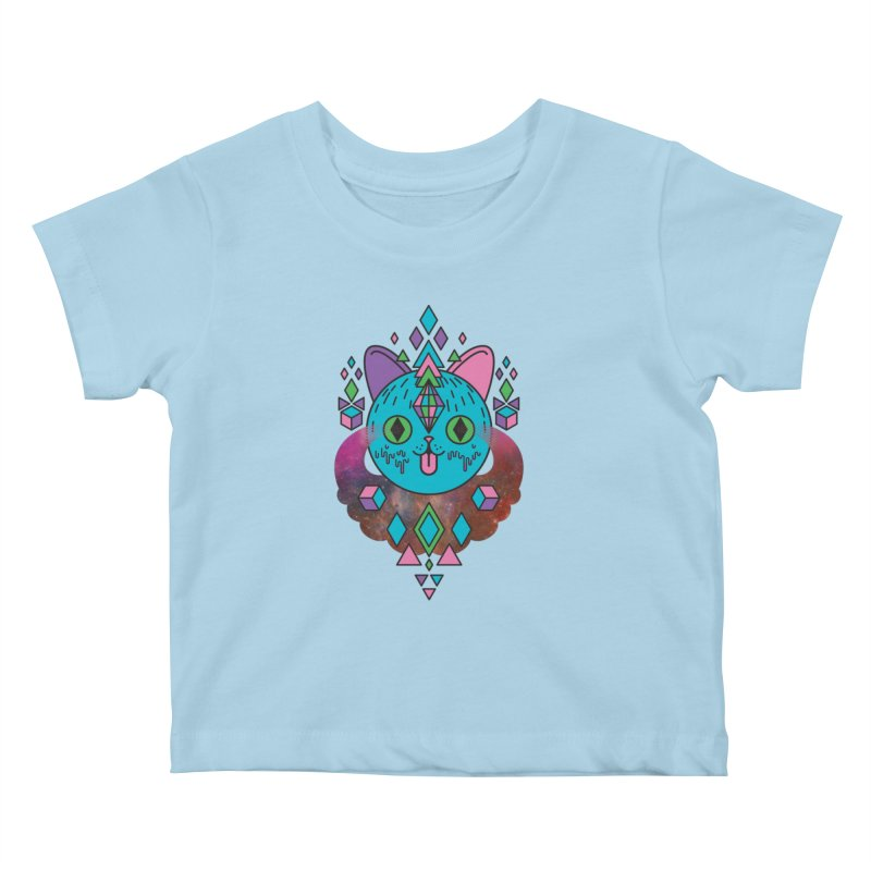 Space Kitty Kids Baby T-Shirt by Quick Brown Fox