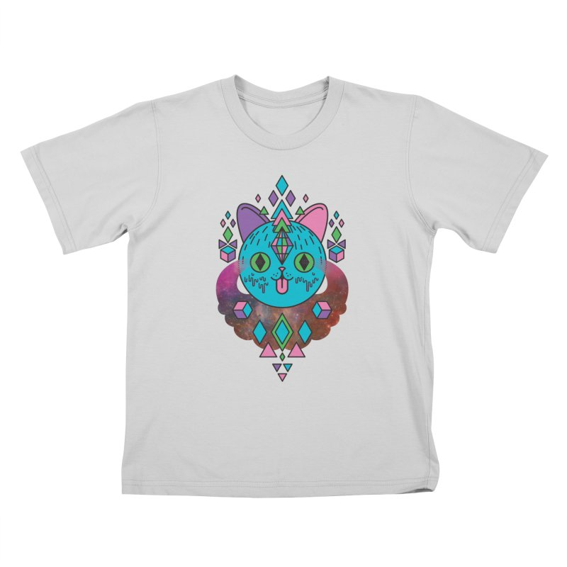 Space Kitty Kids T-Shirt by Quick Brown Fox