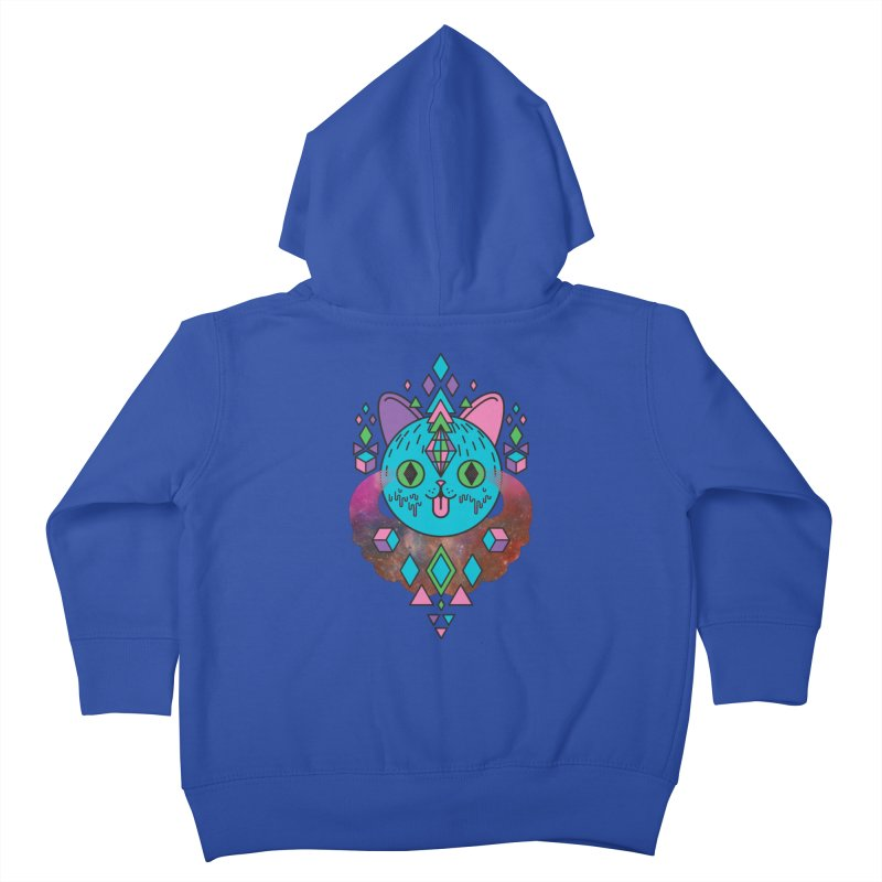 Space Kitty Kids Toddler Zip-Up Hoody by Quick Brown Fox