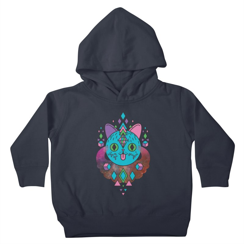 Space Kitty Kids Toddler Pullover Hoody by Quick Brown Fox