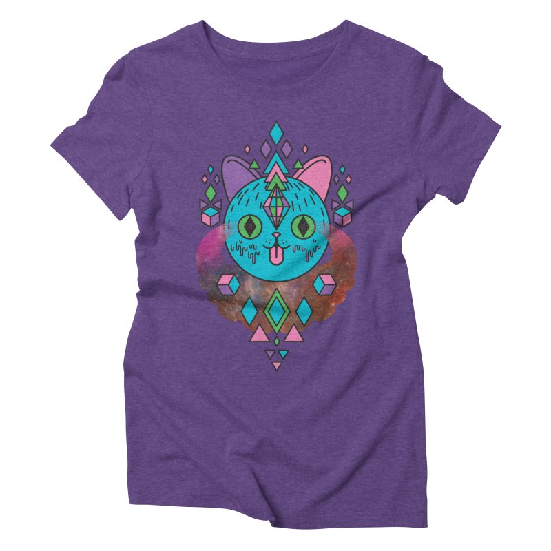 Space Kitty Women's Triblend T-Shirt by Quick Brown Fox
