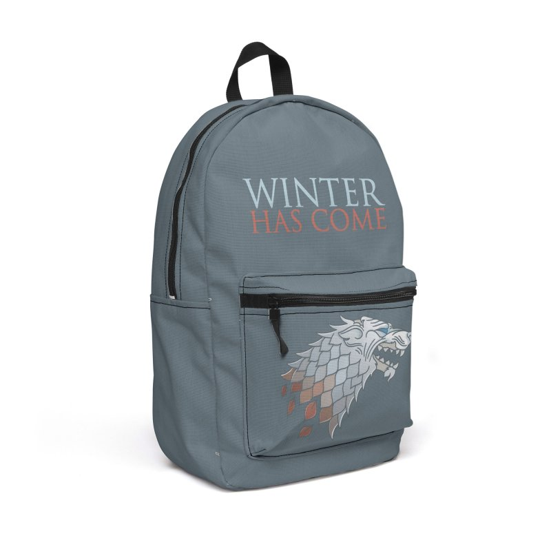 Winter Has Come Accessories Backpack Bag by Quick Brown Fox