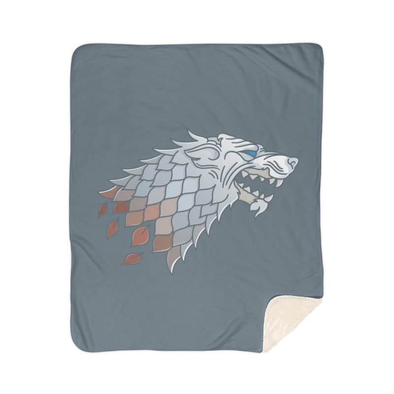 Winter Has Come Home Sherpa Blanket Blanket by Quick Brown Fox