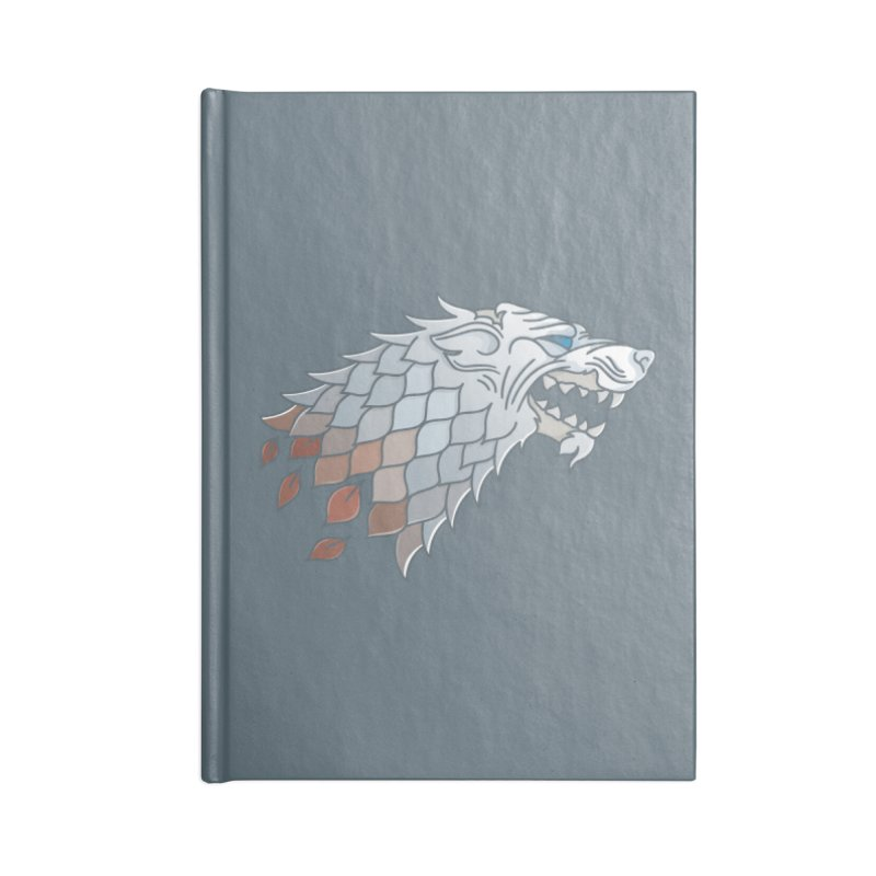 Winter Has Come Accessories Blank Journal Notebook by Quick Brown Fox
