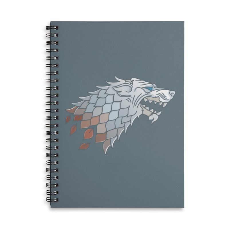 Winter Has Come Accessories Lined Spiral Notebook by Quick Brown Fox