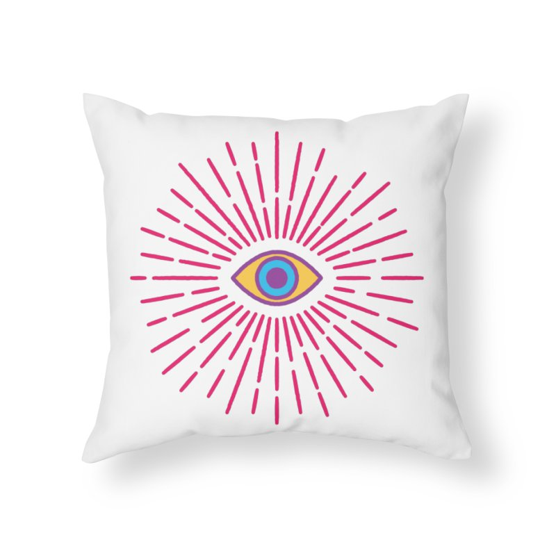 Third Eye Home Throw Pillow by Quick Brown Fox