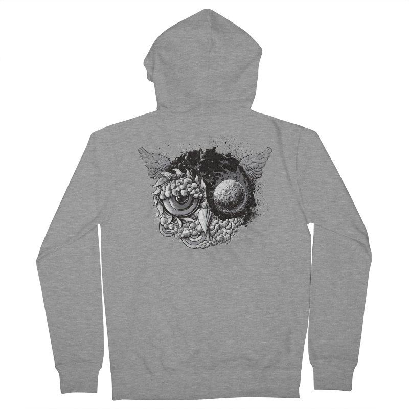 Owl Day & Owl Night Men's Zip-Up Hoody by Qetza