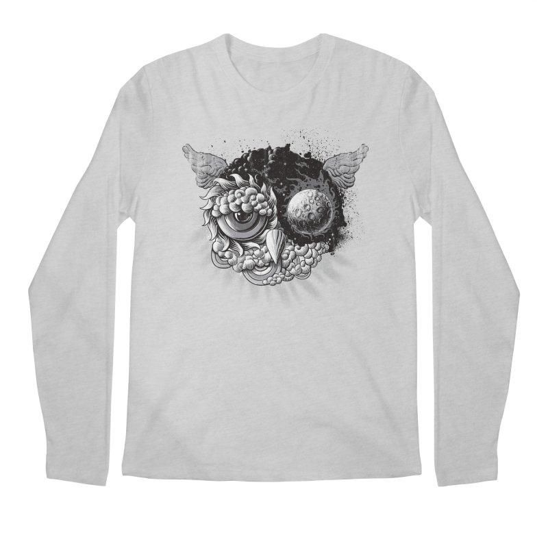 Owl Day & Owl Night Men's Longsleeve T-Shirt by Qetza