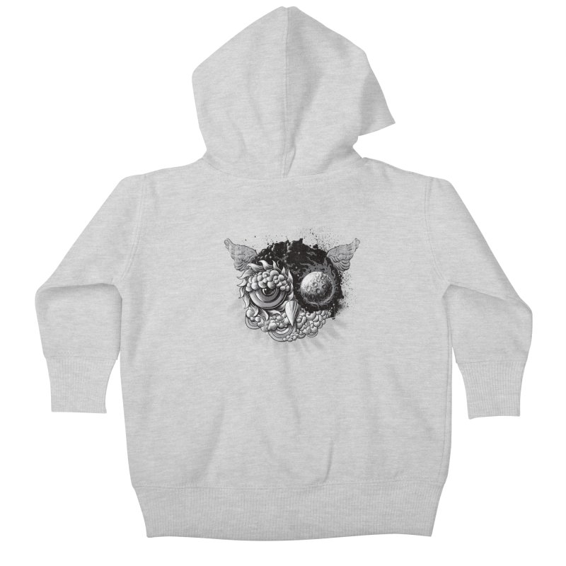 Owl Day & Owl Night Kids Baby Zip-Up Hoody by Qetza
