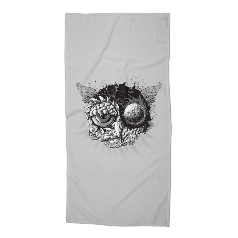 Owl Day & Owl Night Accessories Beach Towel by Qetza