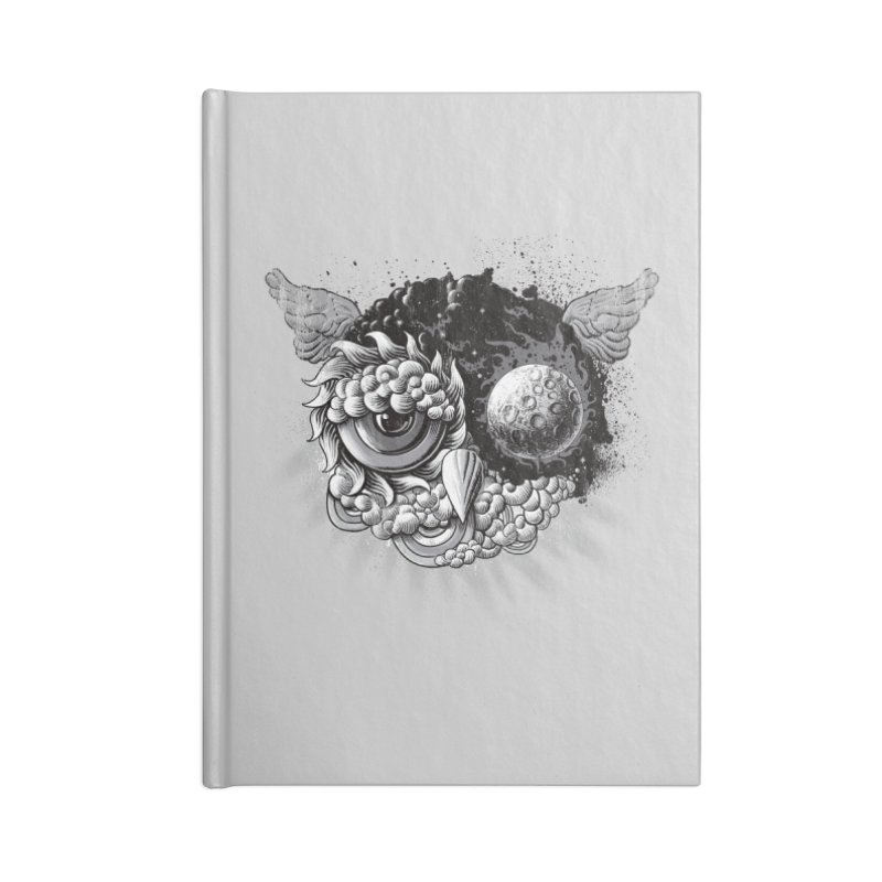 Owl Day & Owl Night Accessories Notebook by Qetza