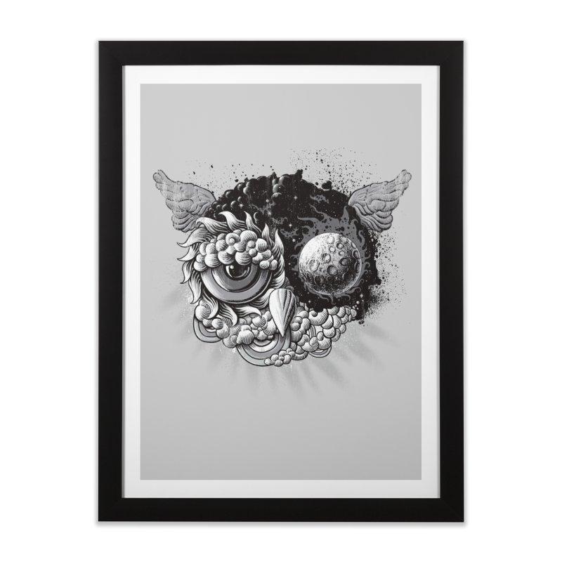 Owl Day & Owl Night Home Framed Fine Art Print by Qetza