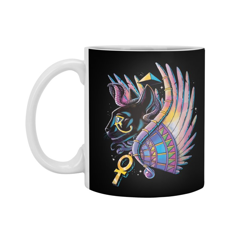 Pharaoh Cat Accessories Mug by Qetza
