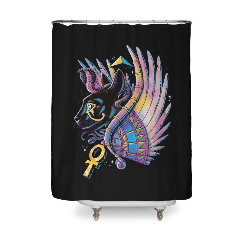 Pharaoh Cat Home Shower Curtain by Qetza