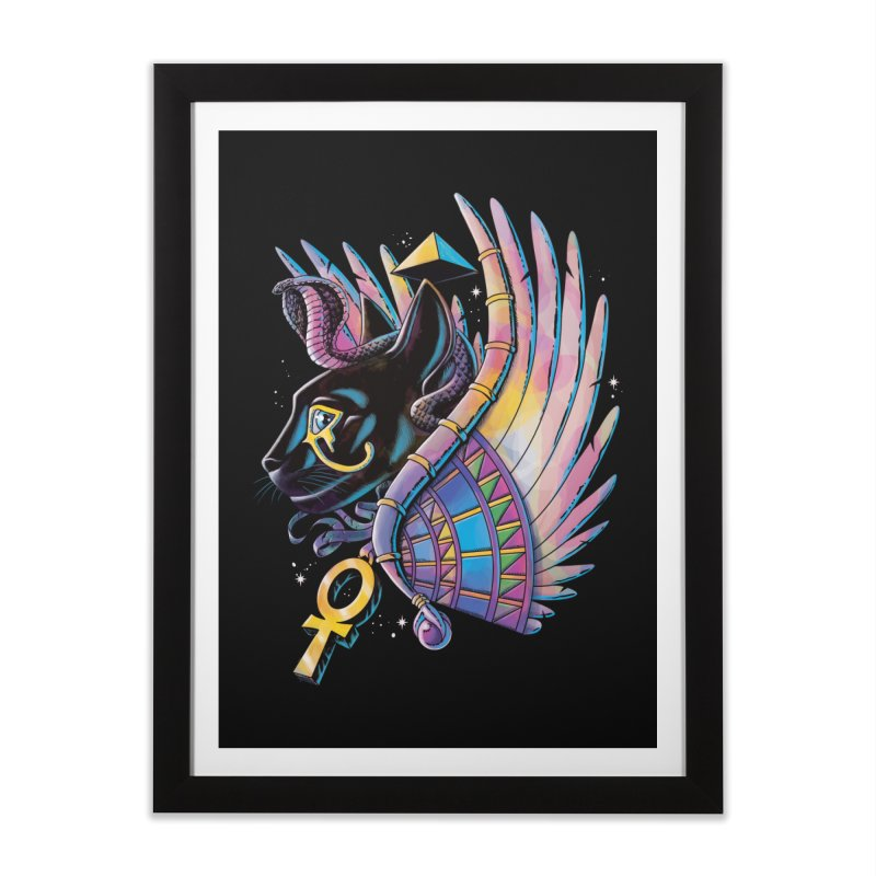 Pharaoh Cat Home Framed Fine Art Print by Qetza