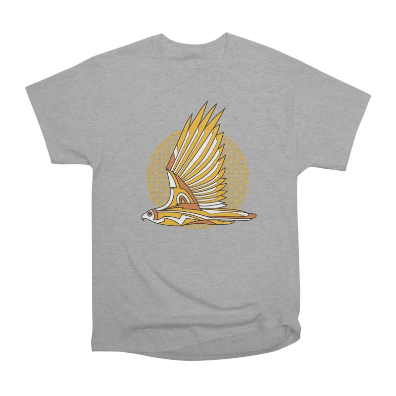 Hawk Deco 3 Men's Heavyweight T-Shirt by Qetza