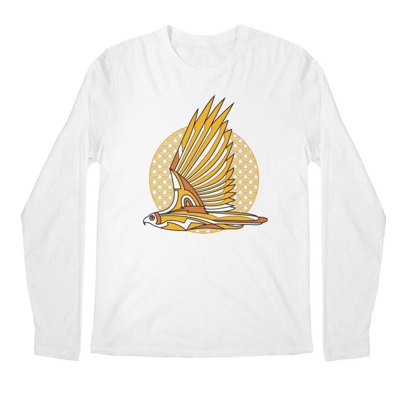 Hawk Deco 3 Men's Longsleeve T-Shirt by Qetza