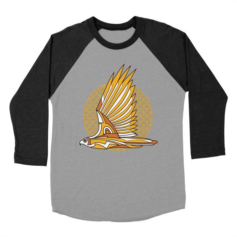 Hawk Deco 3 Men's Baseball Triblend T-Shirt by Qetza