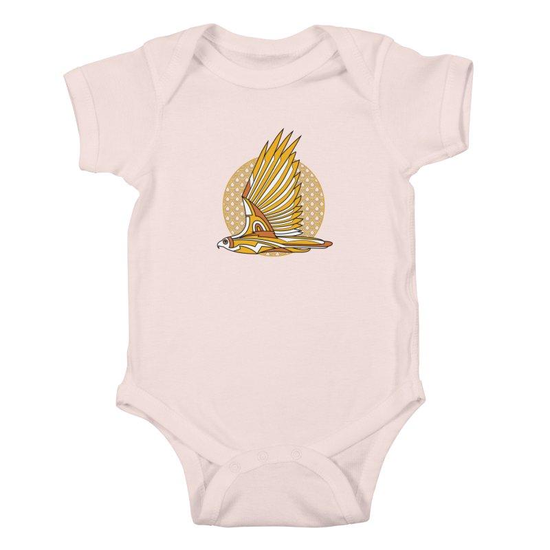 Hawk Deco 3 Kids Baby Bodysuit by Qetza