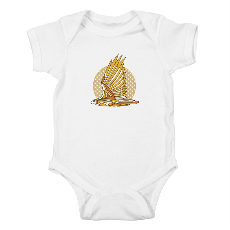 Hawk Deco 3 Kids Baby Bodysuit by Qetza