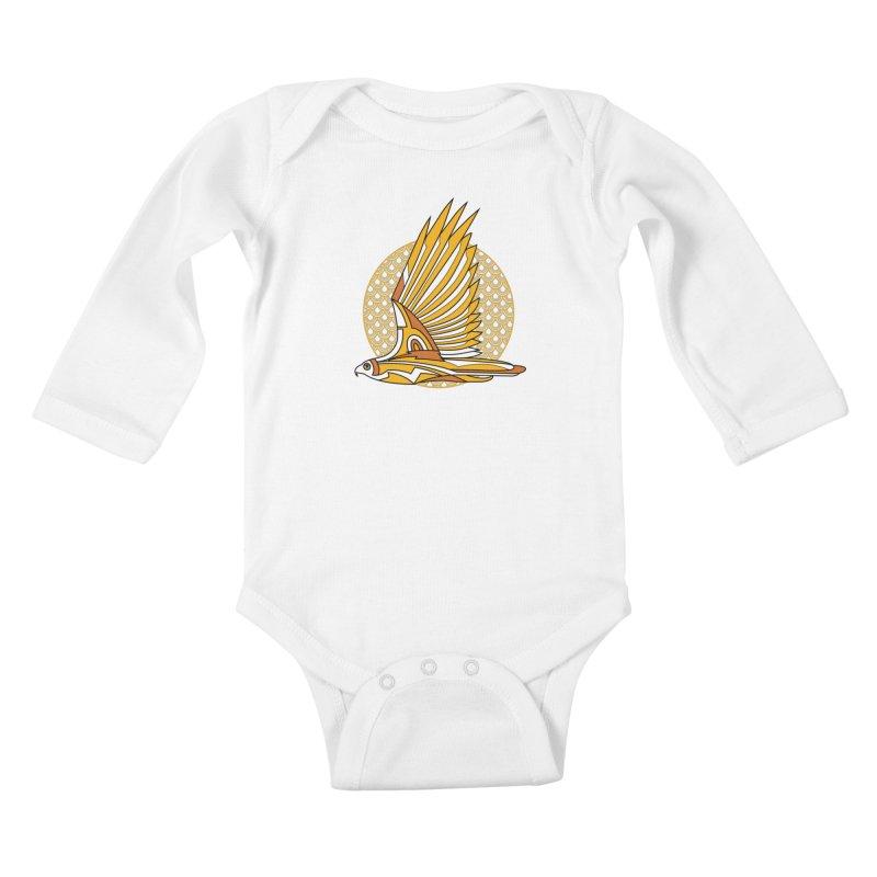 Hawk Deco 3 Kids Baby Longsleeve Bodysuit by Qetza