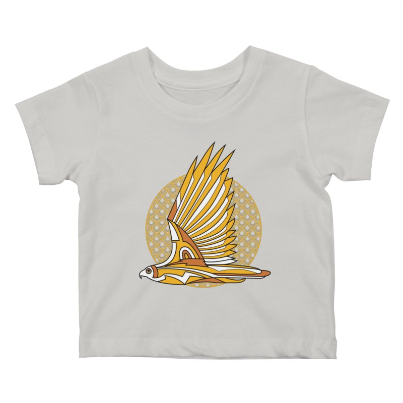 Hawk Deco 3 Kids Baby T-Shirt by Qetza